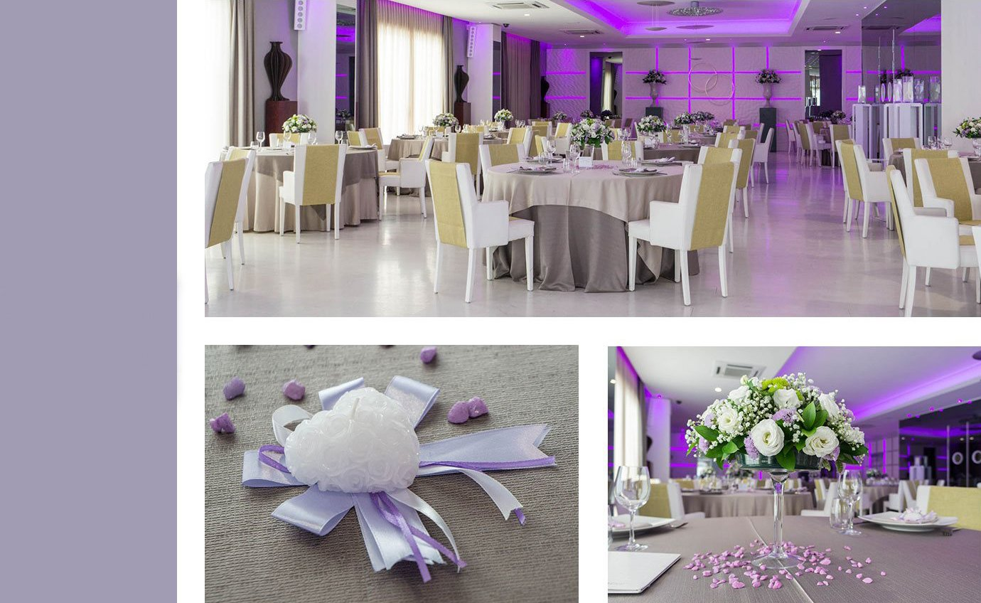 allestimenti wedding - pantone theme: lilla