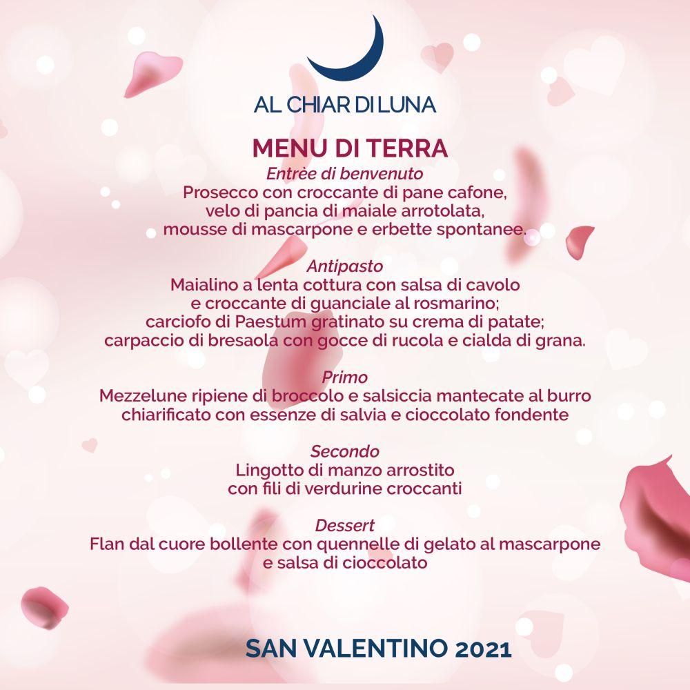 menu di san valentino - terra